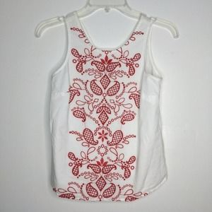 XXS Maison Jules Red Embroidered Top Tee Paisley A